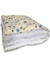 Одеяло Angellini Дуэт 8с015дб (150x205, звездный/белый) -