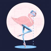 Авторская картина ХO-Gallery Розовый фламинго / ВЛ-2020-001 -