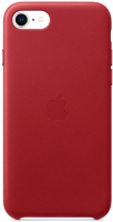 Чехол-накладка Apple Leather Case для iPhone SE Red / MXYL2 -