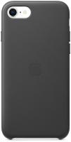 Чехол-накладка Apple Leather Case для iPhone SE Black / MXYM2 -