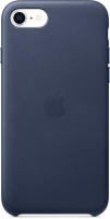 Чехол-накладка Apple Leather Case для iPhone SE Midnight Blue / MXYN2 -