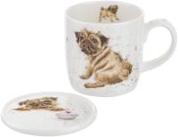 Чашка с блюдцем Portmeirion Wrendale Designs Мопс / WNLZ3943-XG -