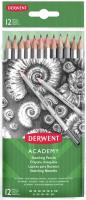 Набор простых карандашей Derwent Academy Sketching / 2300412 (12шт) -