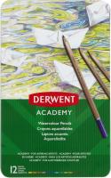 Набор акварельных карандашей Derwent Academy 2301941 (12шт) -