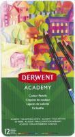 Набор цветных карандашей Derwent Academy Colour / 2301937 (12шт) -