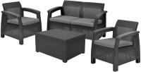 Комплект садовой мебели Keter Corfu II Box / 223174 (графит) -