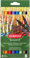 Набор маркеров Derwent Academy Twin-Tip / 98206 (8шт) -