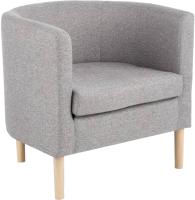 Кресло мягкое Halmar Clubby (серый/натуральный) -