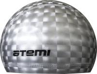 Шапочка для плавания Atemi 3D / PU120 (серый) -