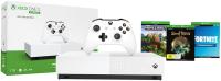 Игровая приставка Microsoft Xbox One S 1TB All Digital + 3 игры / NJP-00060 -
