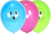 Набор воздушных шаров KDI Мордашки животных / DA-12-50-animals (в ассортименте, 50шт) -