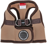 Шлея-жилетка для животных Puppia Soft Vest / PAHA-AH305-BE-L (бежевый) -
