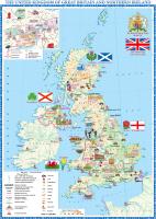 Настенная карта Белкартография Великобритания и Северная Ирландия (ламинированная с держателями) -