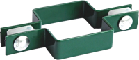 Крепление для забора Lihtar Хомут П-образный оцинкованный в полимерном покрытии (60х40мм, зеленый) -