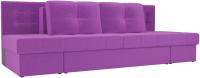 Диван Лига Диванов Дублин 226 / 104121 (микровельвет фиолетовый) -