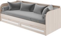 Кровать-тахта Rinner Остин М23 (ясень шимо светлый/белый поры дерева) -