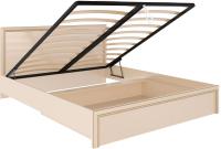 Двуспальная кровать Rinner Беатрис М08 с ПМ 160x200 (дуб млечный) -