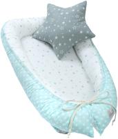 Бортик-гнездышко Martoo Nest / NST-GR-BL (голубой/серый) -