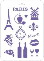 Трафарет Сонет Париж / 13746585 -