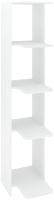 Стеллаж Кортекс-мебель КМ31 угловой (белый) -
