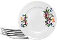 Набор тарелок Добруш Идиллия Букет цветов / 9С2682Ф34 (6пр) -