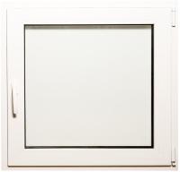 Окно ПВХ Добрае акенца Поворотно-откидное 3 стекла (800x800) -