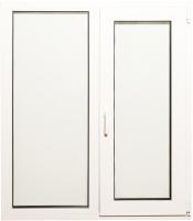 Окно ПВХ Добрае акенца Двухстворчатое с поворотно-откидной створкой 3 стекла (1200x1000) -