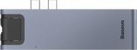 USB-хаб Baseus Thunderbolt 7в1 / CAHUB-L0G -