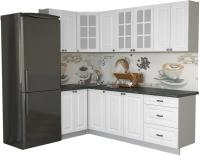 Готовая кухня Интерлиния Мила Деко 1.2x2.4 (белый/кастилло темный) -