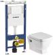 Унитаз подвесной с инсталляцией Geberit Duofix Plattenbau 458.122.11.1 + 1WH302423 -