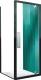 Душевое ограждение Roltechnik Exclusive Line ECDO1N/80+ECDBN/80 (черный/прозрачное стекло) -
