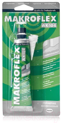 Герметик силиконовый Makroflex АX 104 Универсальный (85мл, белый)