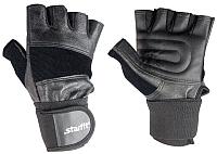 Перчатки для пауэрлифтинга Starfit SU-125 (S, черный) -