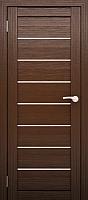Дверь межкомнатная Юни Двери Амати 01 90x200 (орех темный/стекло белое) -