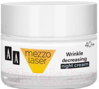 Купить Крем для лица AA, Mezzolaser 40+ ночной против морщин восстановление + упругость (50мл), Польша, Mezzolaser (AA)