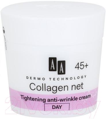 Купить Крем для лица AA, Dermo Technology чистый коллаген дневной крем против морщин 45+ (50мл), Польша, Dermo Technology (AA)