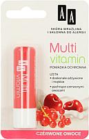 Бальзам для губ AA Multi Vitamin красные фрукты -
