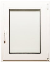 Окно ПВХ Добрае акенца Поворотно-откидное 3 стекла (800x600) -
