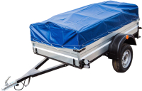 Прицеп для автомобиля ТитаН 1800 оцинкованный (тент и каркас 350мм) -