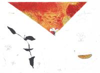 Авторская картина ХO-Gallery Черная ветка-2 / ТР-2020-012 -