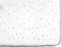 Простыня детская Martoo Comfy / СM160x80-1-WT-GRST (серые звезды на белом) -
