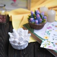 Статуэтка Нашы майстры Корзиночка с цветами / 1055 (декорированная) -
