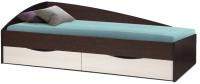Односпальная кровать Олмеко Фея-3 80x190 (венге/дуб линдберг) -