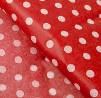 Набор бумаги для оформления подарков No Brand В горошек / 3283-5 (10л, красный) -