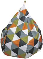 Бескаркасное кресло Аквилон Груша (ромбус оранжевый) -
