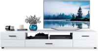 Тумба Rikko Ларго 2.0 TV (белый/белый глянец) -