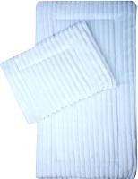 Комплект постельный в коляску Эдельвейс Матрасик 70x35 с подушкой 25x35 (вельбоа, бязь/голубой) -