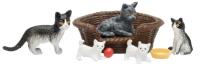 Комплект аксессуаров для кукольного домика Lundby Кошачья семья / LB-60805700 -
