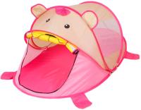 Детская игровая палатка Sima-Land Мишутка / 3623501 (розовый) -