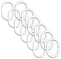 Кольца для шторки Bisk 91202 (12шт, белый) -